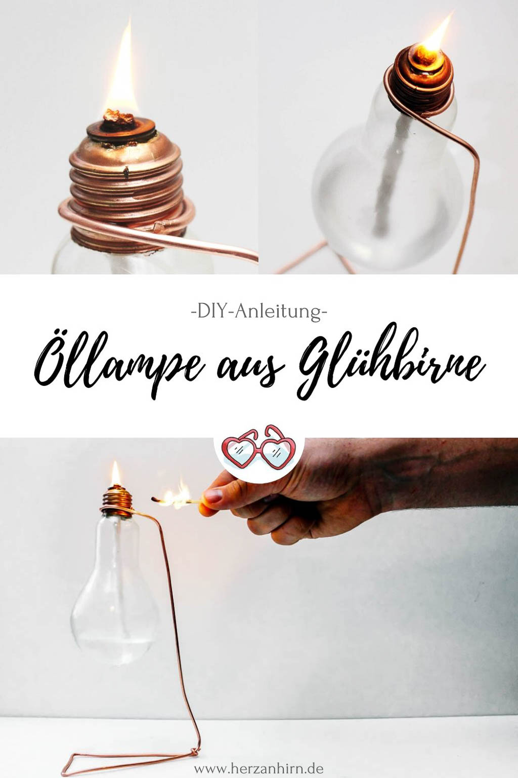 Öllampe DIY Pinterest Grafik
