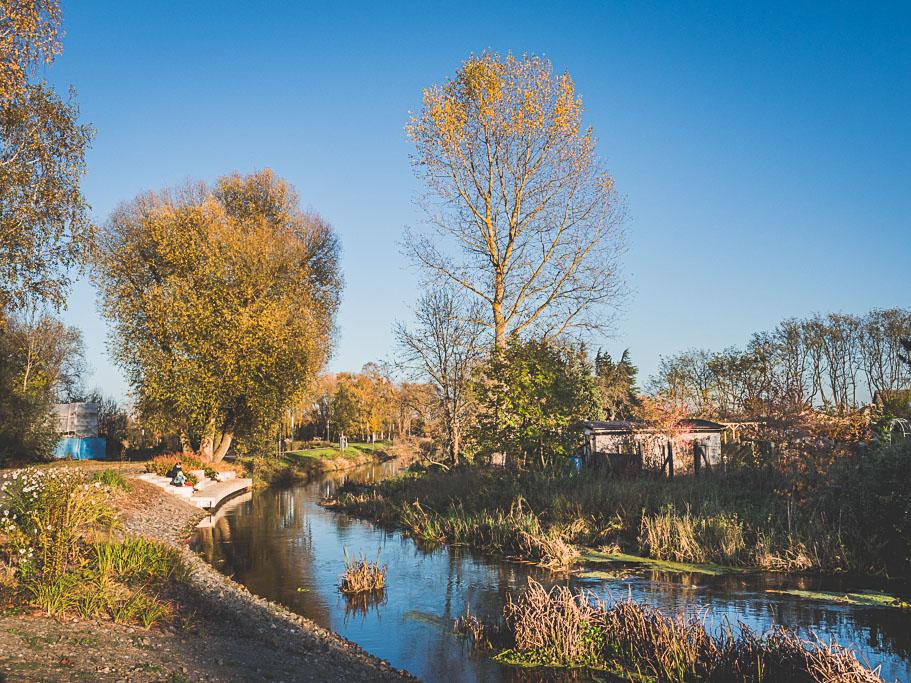 Nieplitz im Park Landesgartenschau Beelitz in Brandenburg