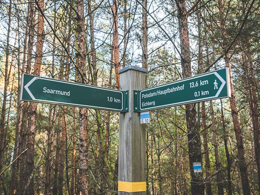 Wanderung Saarmunder Berg am Flugplatz Saarmund in Nuthetal in Brandenburg
