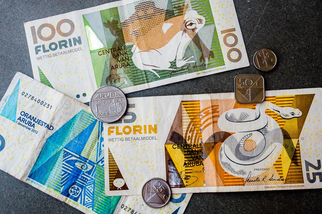 Währung Aruba Geldscheine und Münzen