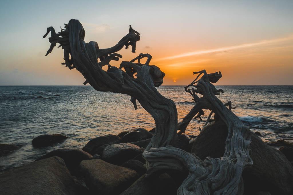 Sonnenuntergang Hudishibana Dünen Aruba