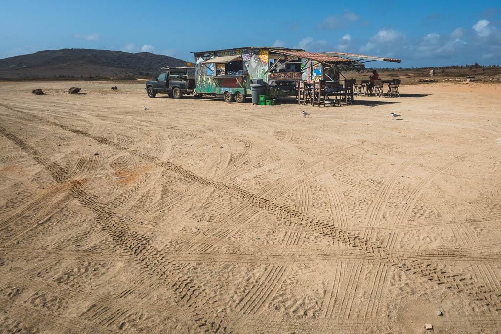 Imbiss bei der Bushiribana Goldmühle auf Aruba