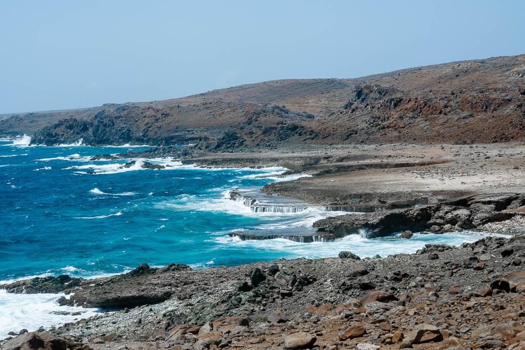 Wilde Küste im Arikok Nationalpark Aruba