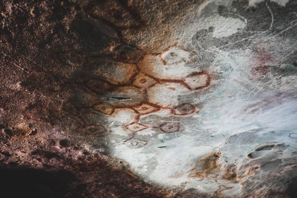 Höhlenmalereien in der Fontaine Cave Aruba