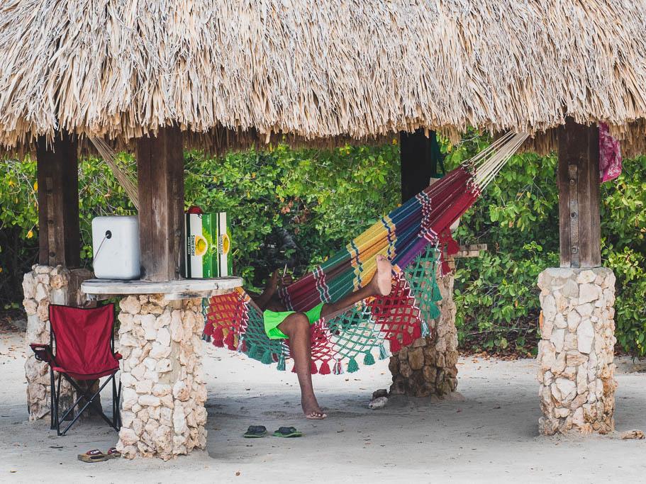 Hängematte am Strand Mangel Halto Aruba