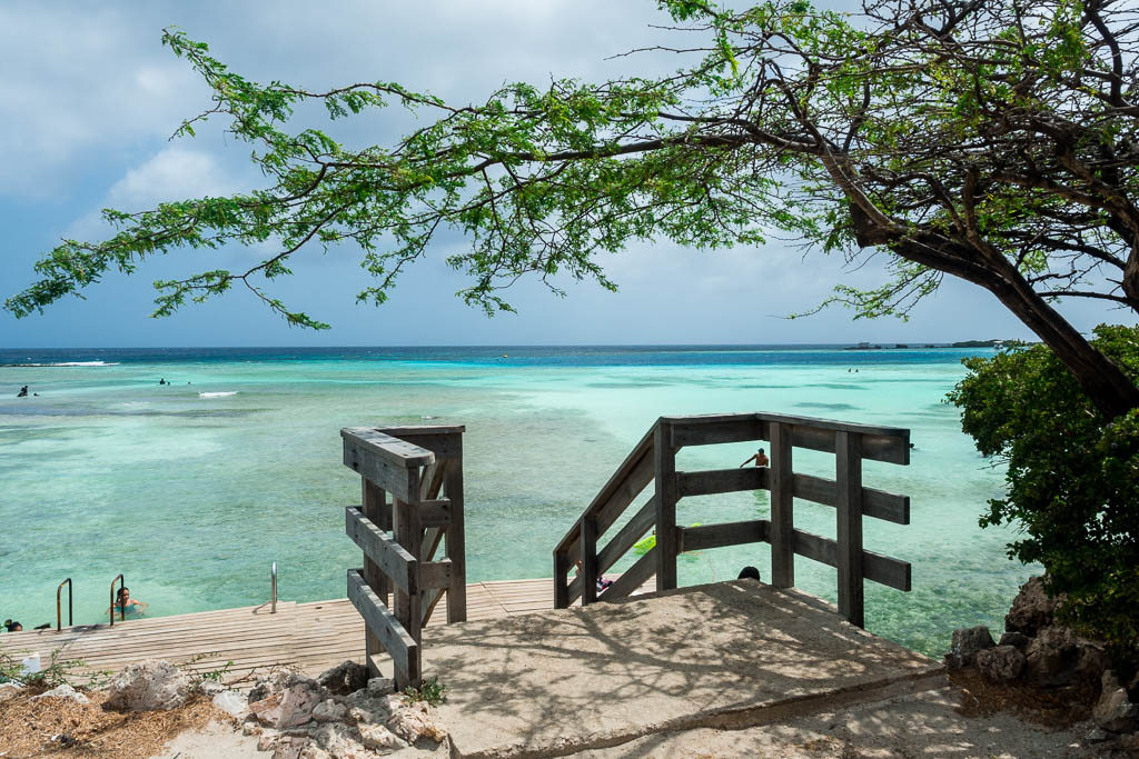 Blick auf Mangel Halto Strand Aruba