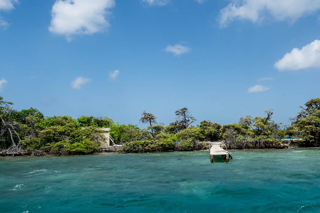 Hütten in Mangrovenwald Aruba