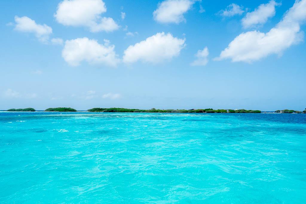Türkises Wasser der spanischen Lagune Aruba