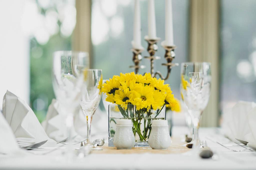 festlich gedeckter Tisch im Flair Hotel Reuner in Brandenburg
