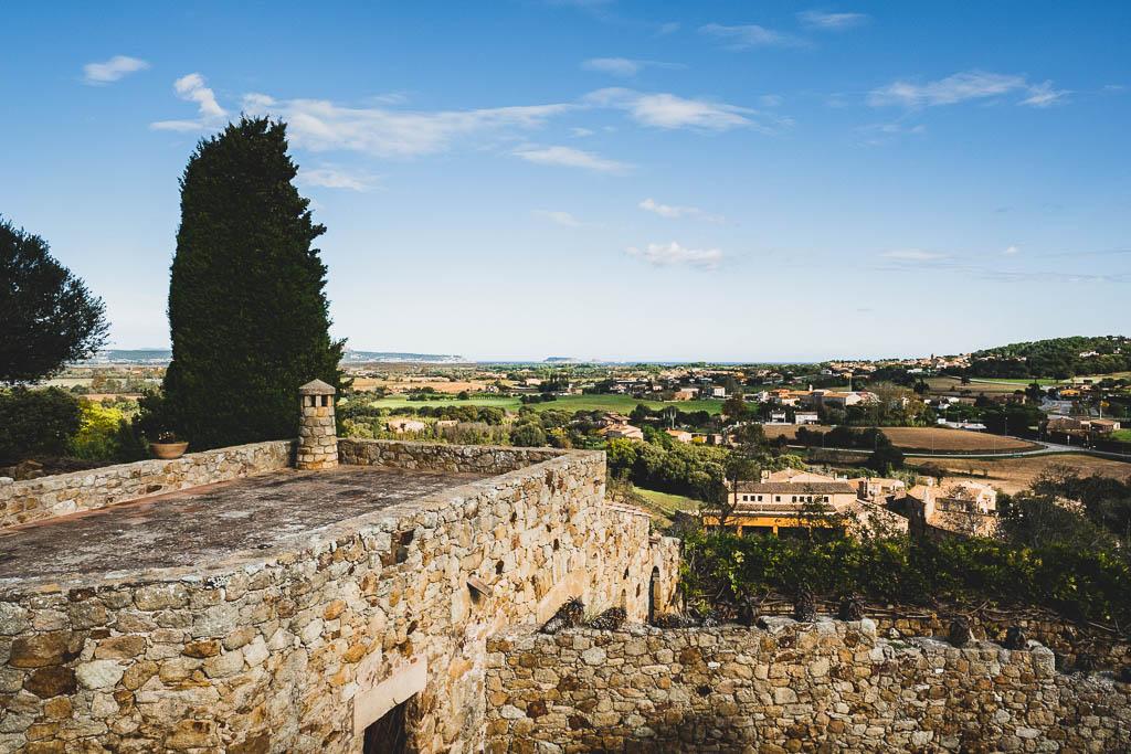 Ausblick Altstadt Pals Katalonien