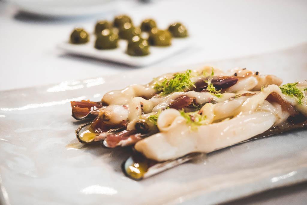 Restaurant Vicus Teller mit Schwertmuscheln