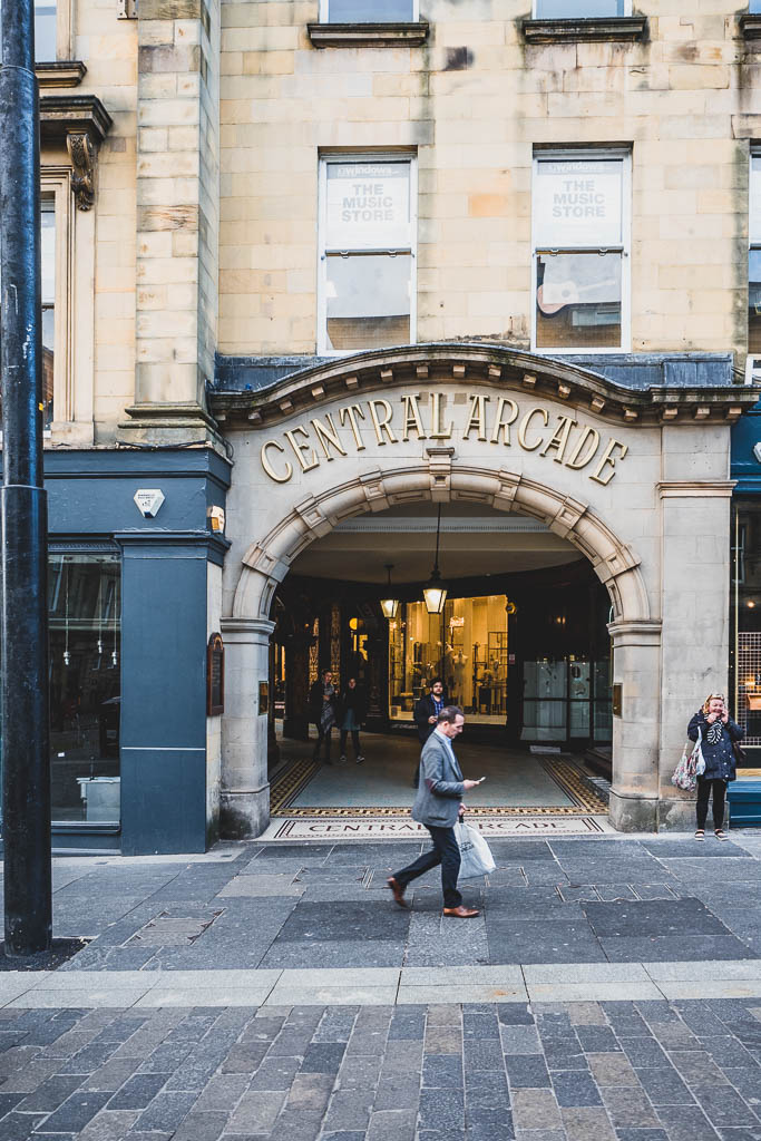 Central Arcade Newcastle Eingang
