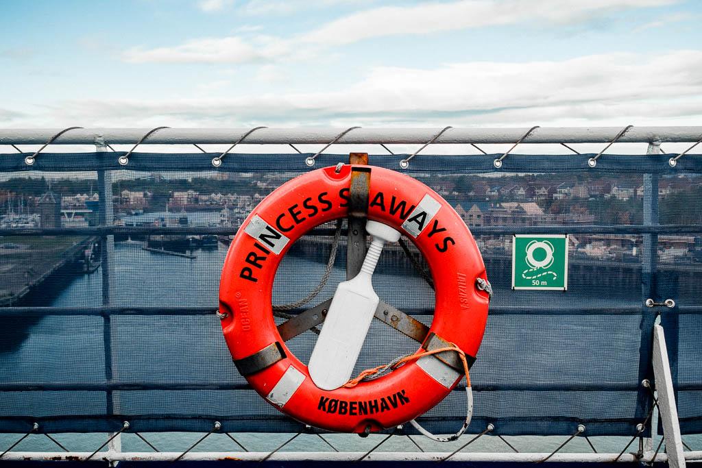 Rettungsring Fähre Princess Seaways