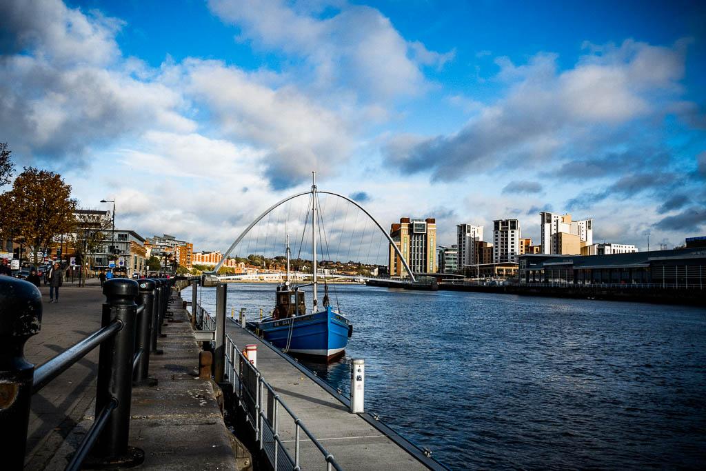 Millenium Bridge Sehenswürdigkeit Newcastle