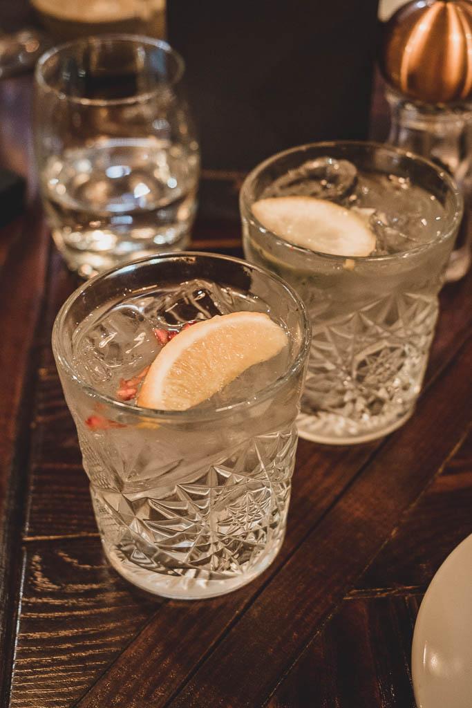 Gin im Restaurant Dobson & Parnell Newcastle