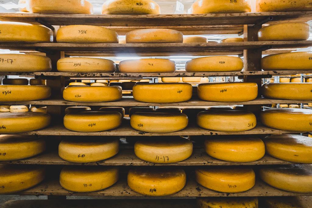 Käse im Käse-Bauernhof Wezenspyk