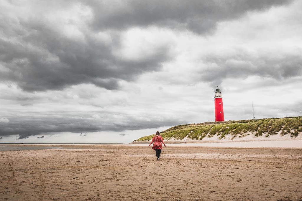 Strand Texel mit Leuchtturm