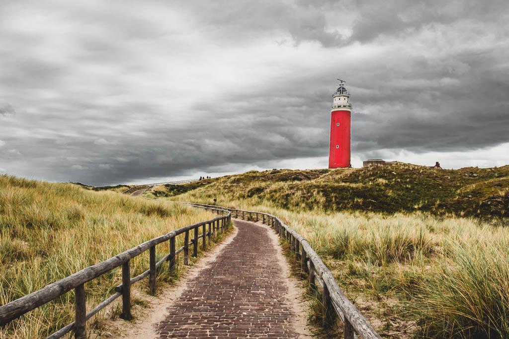 Leuchtturm Texel in den Dünen
