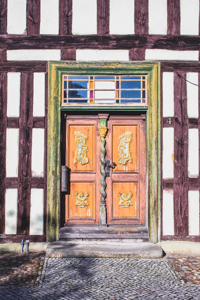 Tür Altstadt Dahme Mark Brandenburg