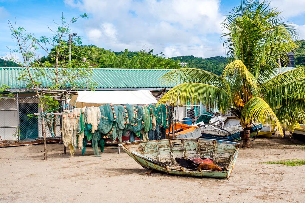 Fischerboot Anse La Raye Saint Lucia
