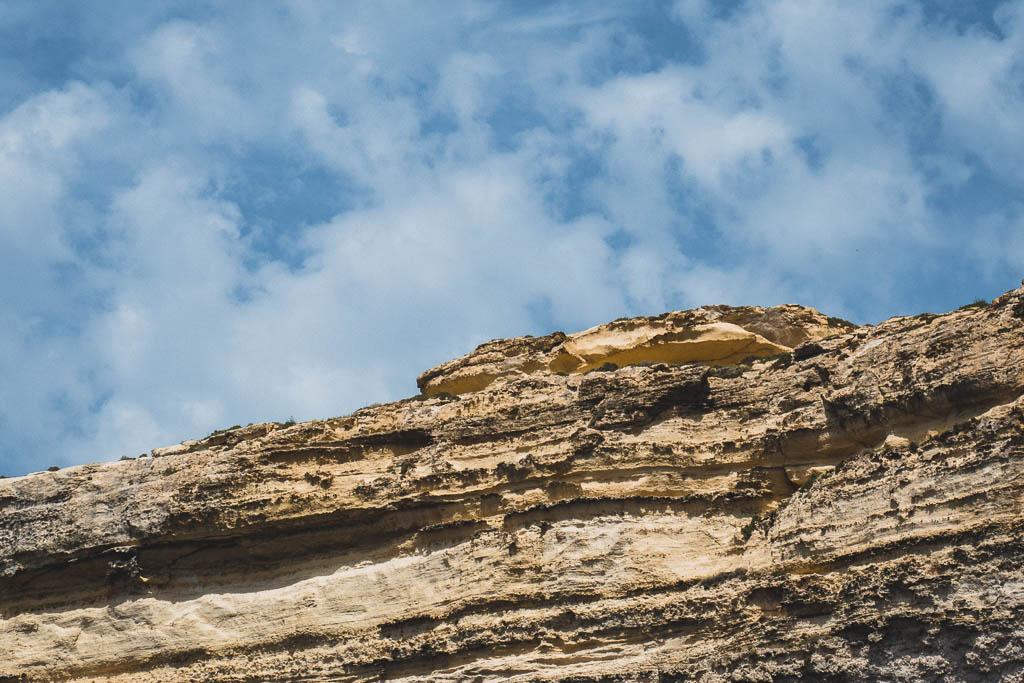 Felsen der wie Krokodil aussieht Gozo