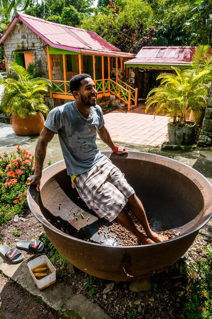 Schokoladen-Tanz Fond Doux Plantation Saint Lucia