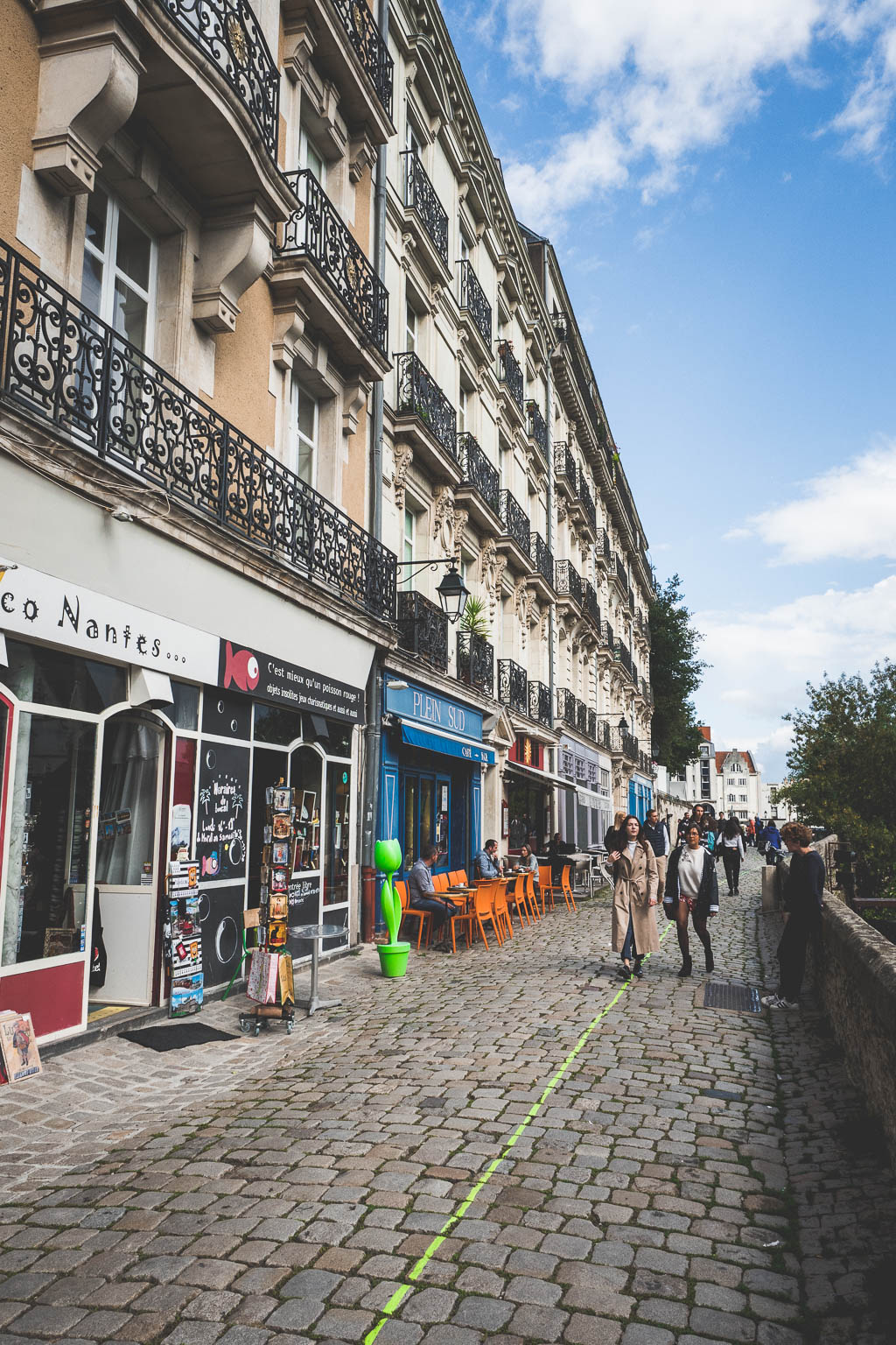 Grüne Linie Nantes Frankreich