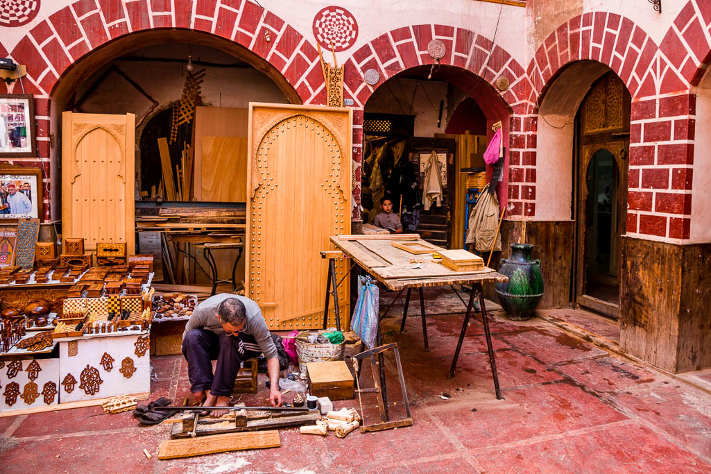 Kunsthandwerk Karawanserei Souk Marrakesch