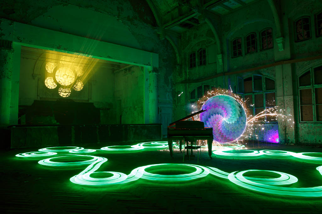 Lightpainting-Workshop in Beelitz Heilstätten - Lost Place in Brandenburg