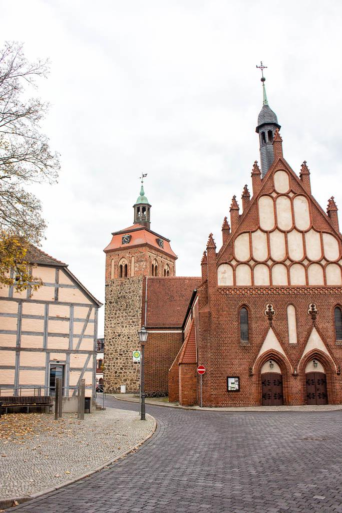 Markt Ausflug nach Luckenwalde in Brandenburg