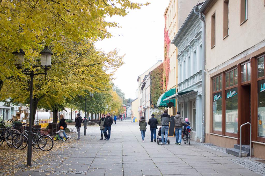 Fußgängerzone Ausflug nach Luckenwalde in Brandenburg