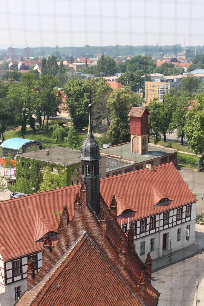 Blick vom Marktturm Ausflug nach Luckenwalde in Brandenburg