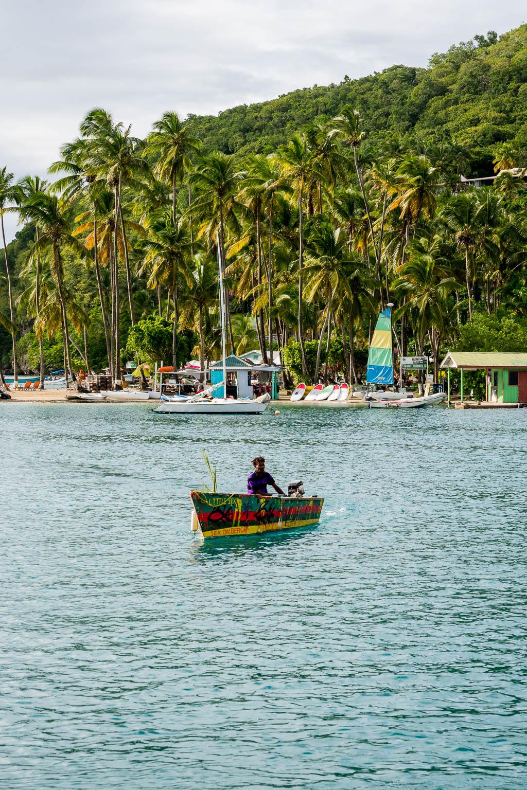 Fischerboot Marigot Bay Saint Lucia