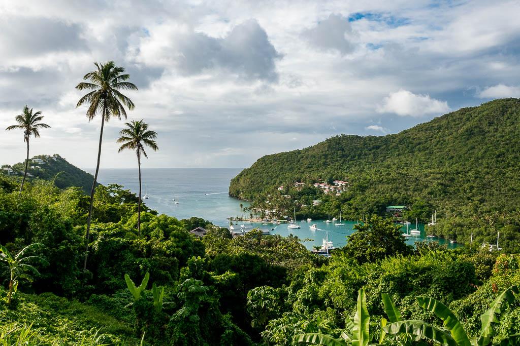 Blick auf Marigot Bay Saint Lucia
