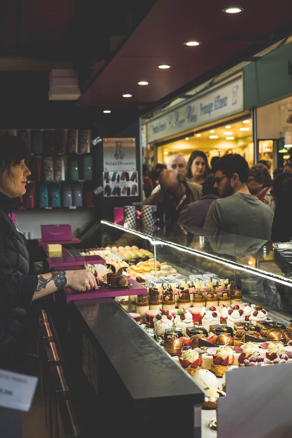 Markthalle von Talensac Nantes Frankreich
