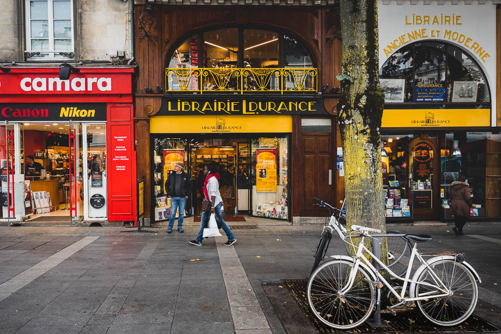 Geschäft Nantes Frankreich