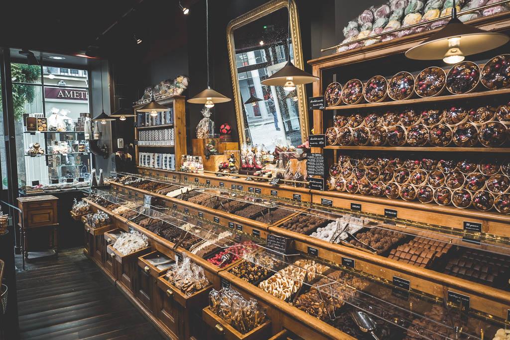 Geschäft Pommeraye Passage Nantes Frankreich