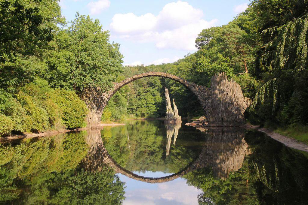 Ausflug zur Rakotzbrücke in Sachsen