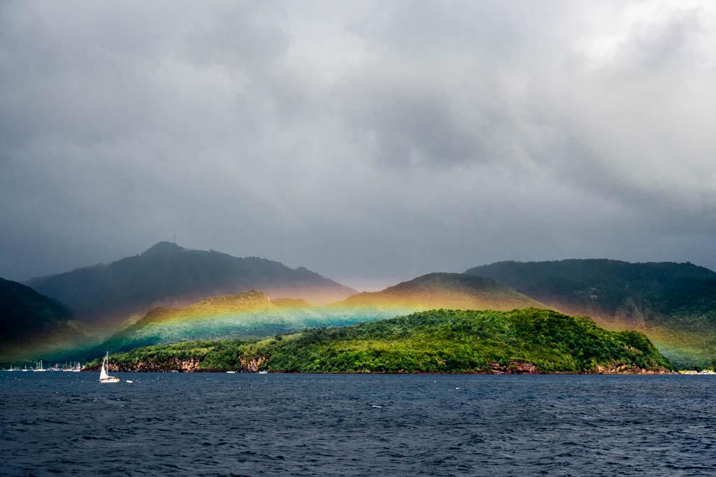 Regenbogen Lakou A Martinique Geheimtipp