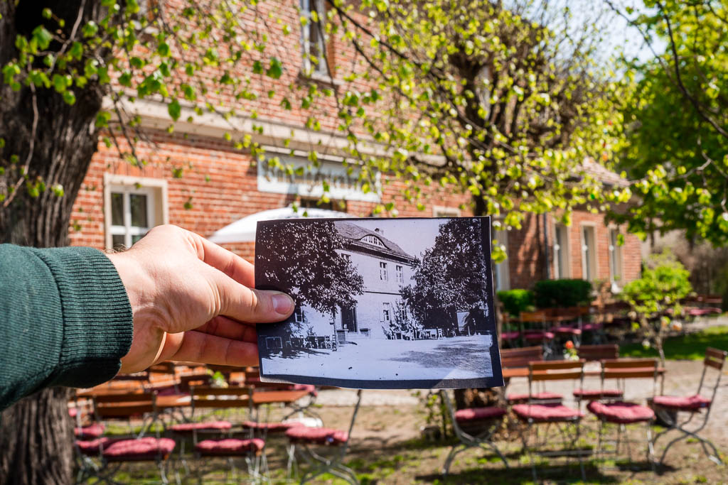Restaurant Baumgartenbrück Brandenburg früher und heute
