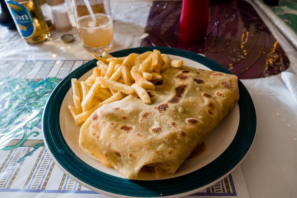 Rotis im Restaurant Fedo`s in Soufriere