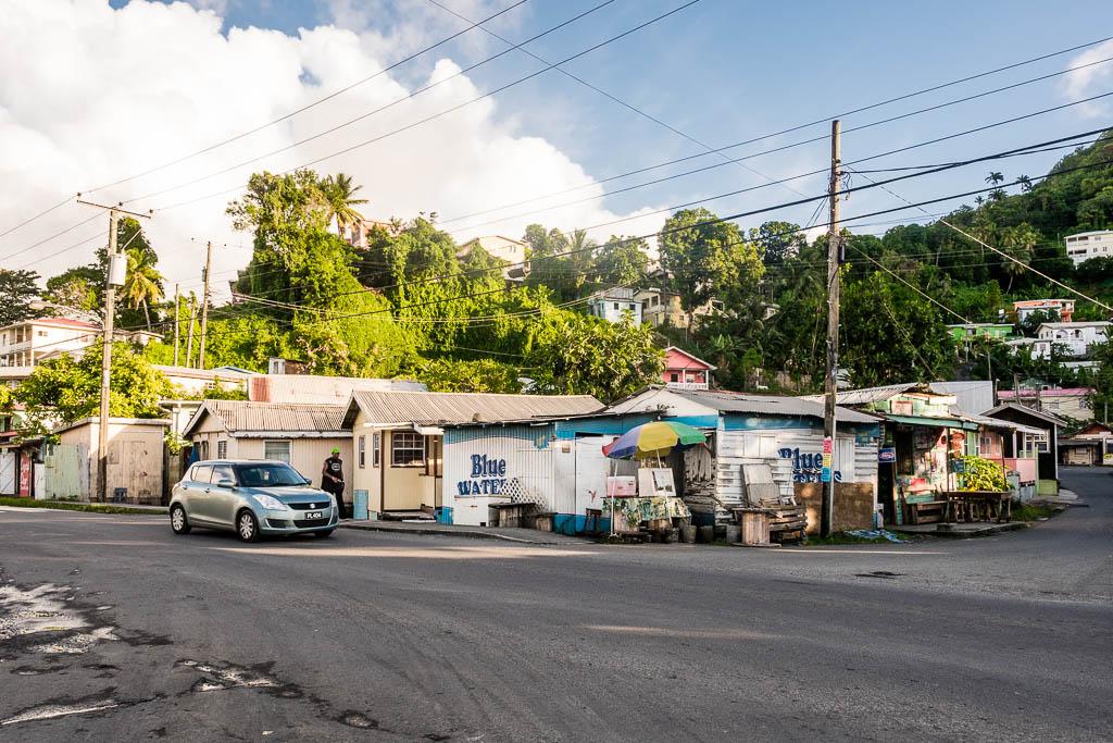 Hütten am Hafen von Castries Saint Lucia