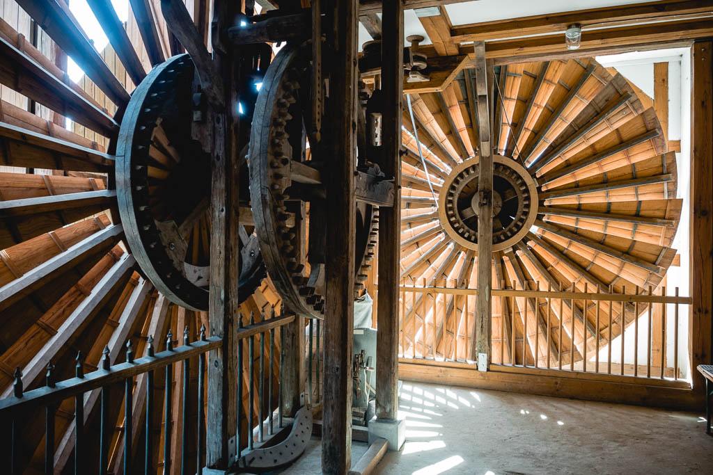 Scheunenwindmühle in Saalow in Brandenburg