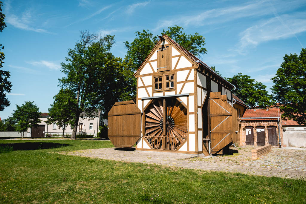 Scheunenwindmühle in Saalow in Brandenburg