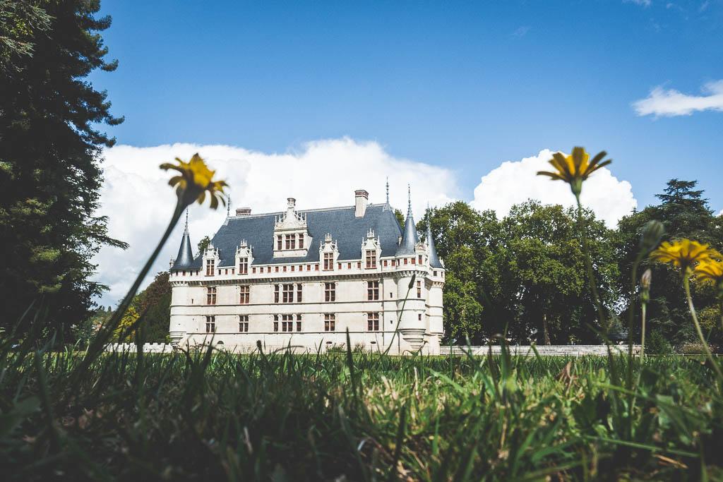 Schloss Azay-le-Rideau an der Loire in Frankreich