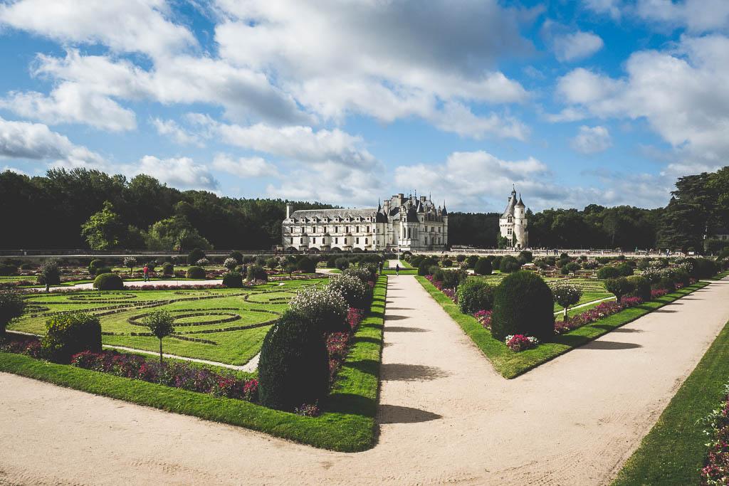 Park Schloss Chateau de Chenonceau Rundreise entlang der Loire in Frankreich