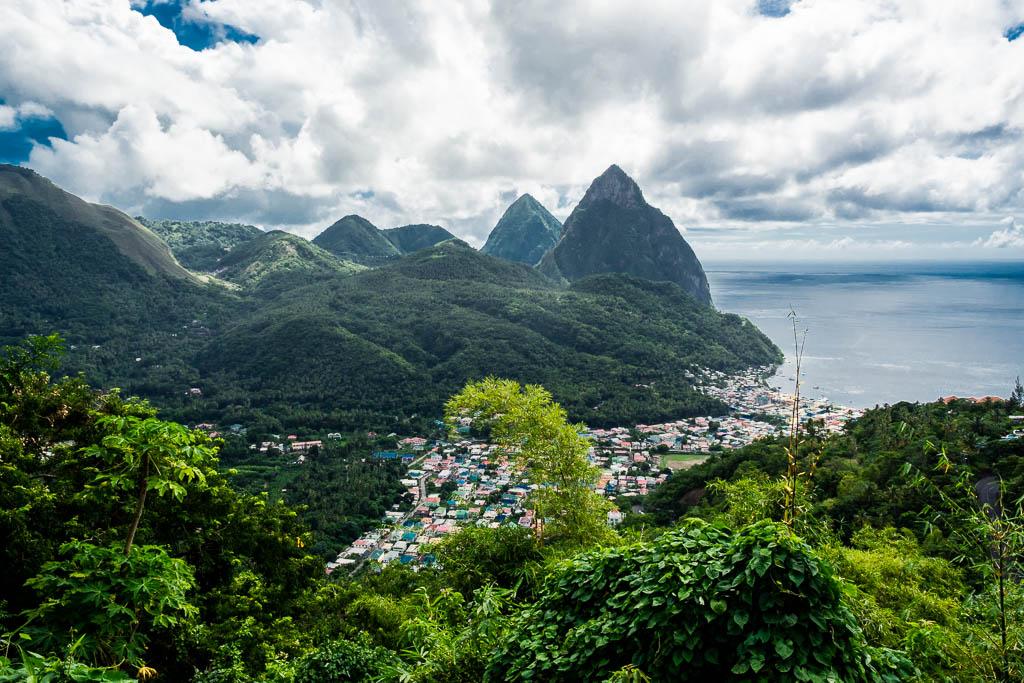 Ausblick auf Soufriere Saint Lucia