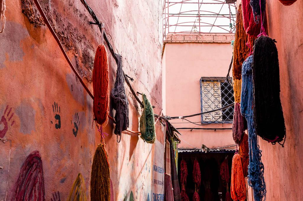 Färberei Souk Marrakesch
