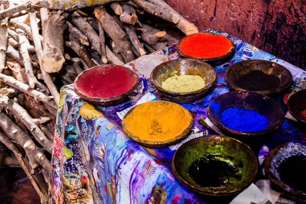 Farbe Souk Marrakesch