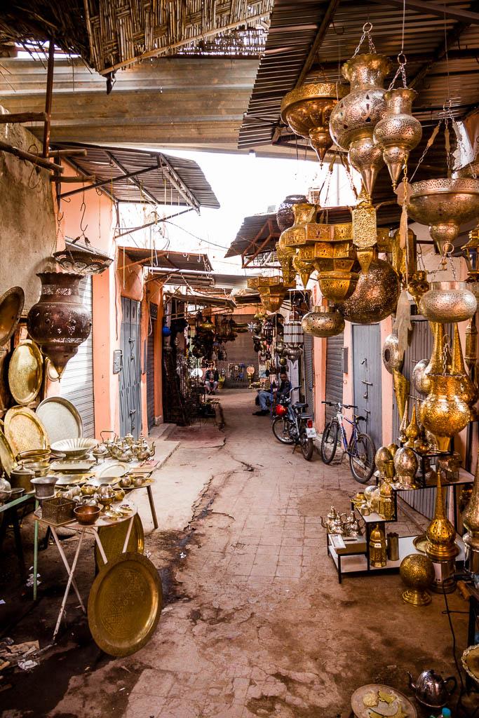 Lampen Souk Marrakesch